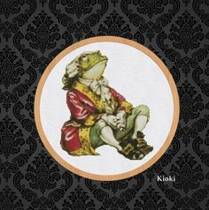 Cross Stitch Pattern Frog from Alice in Wonderland от TinyNeedle
