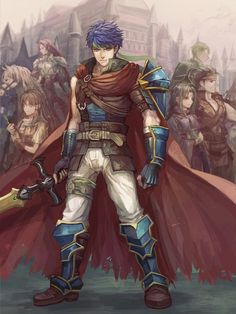 Fire Emblem: Radiant Dawn - Titania, Mist, Ike, Soren, Boyd, and Oscar by Senano Yu