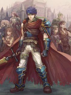 Fire Emblem: Radiant Dawn - Titania, Mist, Ike, Soren, Boyd, and Oscar by Senano Yu
