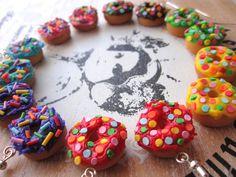 multi colored donuts earrings Miniature Food, Donuts, Jewellery, Cookies, Earrings, Desserts, Crafts, Handmade, Color