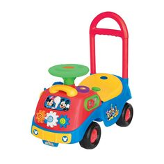 Disney's Mickey & Friends Activity Gears Mickey Mouse Ride-On by Kiddieland, Multicolor
