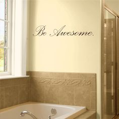 Be Awesome - Motivational - Crossfit - Quote - Wall Decals Stickers Graphics