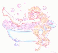 """All Things Mermaid — sketchapod:  for anon.  """"  Can you draw Usagi from..."""