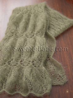 #193 Don't Ruche Me, I'm Knitting Scarf knitting pattern. 670+ Projects on Ravelry already! SweaterBabe.com