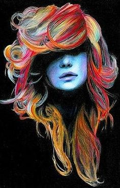 prismacolor hair...that's where u got it from...@Peighton Halstead Halstead Halstead cook