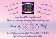 Only one week left to join my Jewelry In Candles team! The company is growing rapidly and the only place to go is up! Join me today at www.jewelryincandles.com/store/heidididi! If you don't wanna sell them, just buy them! Enter smellsgreat at checkout for a 15% discount on your first order :)