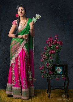 Indian Bridal Fashion by Bhargavi Kunam photographed by Shiv Kumar. Click on the photo for more.