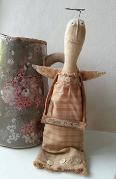 Primitive Angel Primitive doll Art doll. by LaineyWhitworthArt