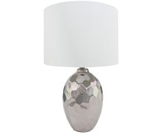 Bringen Sie Ihr Zuhause zum Strahlen: Weiß und Silberfarbene Tischleuchte Kimberly und weitere Leuchten sind jetzt auf >> WestwingNow erhältlich