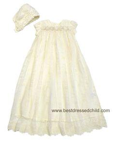 stunning christening/baptism gown