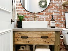 DIY Rustic Bathroom Vanity | Sammy On State Rustic Vanity, Rustic Bathroom Vanities, Bathroom Wall Decor, Bathroom Interior, Bathroom Ideas, Bathroom Design Small, Bathroom Designs, Old Vanity, Shed To Tiny House