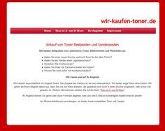 Alte Startseite von wir-kaufen-toner.de