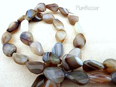 """16/"""" Strand SILVER LEAF AGATE in Beautiful Shapes"""