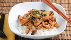 Ovenschotel Bulgaarse kip met rijst en champignons