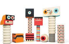 Too cool handmade monster blocks! Stack and Scare 2: http://kiddokorner.com/designer-toys/stack-and-scare-2.html $48.00