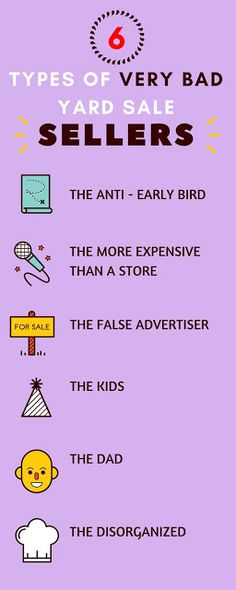 The Makeup Equation: 6 Types of Very Bad Yard Sale Sellers