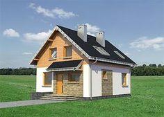 Projekt domu Eklerka - murowana – beton komórkowy 74,20 m² - koszt budowy - EXTRADOM 20 M2, Home Fashion, Shed, Outdoor Structures, Cabin, House Styles, Home Decor, Decoration Home, Room Decor