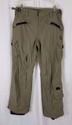 COLUMBIA Convert Boardwear OmniTech Mens M Snowboarding Ski Snow Pants Tan  #Columbia #Pants