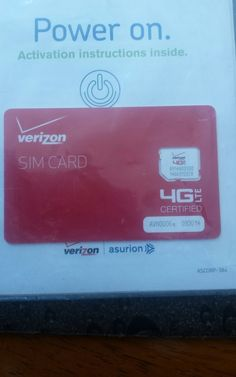 Verizon Wireless 4G LTE Micro SIM card NFC Samsung Galaxy S3, S4, Mini,  #Verizon