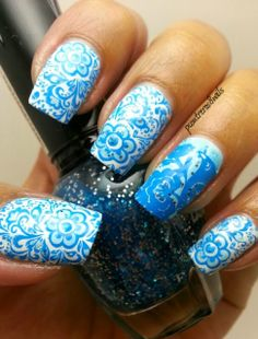 pcontreras8nails: Blue Spring #nail #nails #nailart