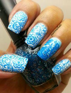 pcontreras8nails: Blue Spring #nail #nails #nailart