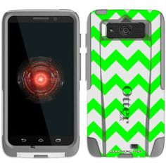 Black Friday Otterbox Commuter Series Chevron Green and White Hybrid Case for Motorola Droid Mini from TrekCovers