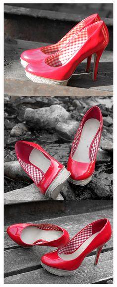 ... wieder rote Schuhe