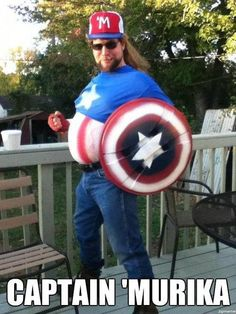 captain murika! this one's for you Erica!