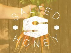 salted honey logo - with new type and texture by Hannah Lee Barganier