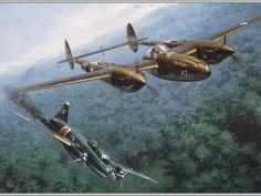 P-38 Lightning Downs Mitsubishi G4M Betty Bomber.