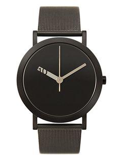 Normal Timepieces | Ross McBride | EN-GM03 | Black Watch | Men's Accessory | Fashion Goods | Product Shot | Product Design | Design Watch | Mesh | Classy | Black | Women Accessory
