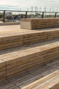 Wood Clad Seating Benches > LDA Design | East Bank, Littlehampton | World Landscape Architecture