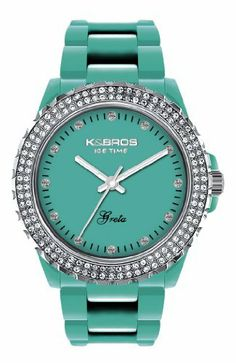 K&BROS Women's 9552-1 Icetime Fashion Three Hands Stones Watch K&Bros. $29.99. Protective mineral crystal. Precise Quartz movement. Water-resistant to 99 feet (30 M). Polycarbonate case. Case diameter: 36 mm
