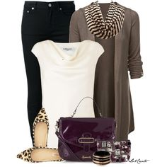 """""""Leopard & Stripes"""" by lv2create on Polyvore"""