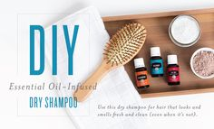 Young Living Essential Oils:  DIY Essential Oil-Infused Dry Shampoo | WWW.THESAVVYOILER.COM