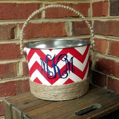 $26 Lake House Monogrammed Bucket. Get yours here: http://www.morgan-company.com/product.cfm?p=3832&c=47&page=lake-house-monogrammed-bucket