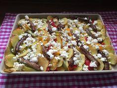 Pampered Chef Ofenzauberer ♥ Kartoffeln Allerlei mit Rostbratwürstchen ♥ Onlineshop Martina Ziehl ► https://ziehl.shop-pamperedchef.de/willkommen/