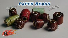How to Make Paper Beads and Color Them Craft Tutorial - YouTube