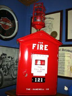 1950's gamewell fire alarm box lamp   Fire alarm box ...