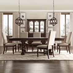 Tribecca Home Flatiron Baluster Extending Dining Set (5-piece set with Dark Grey Linen chairs)
