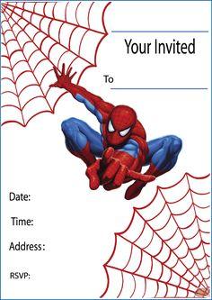Free printable party invitations on invitation templates spiderman birthday template Spiderman Theme Party, Spiderman Birthday Invitations, Birthday Party Invitations Free, Superhero Invitations, Superhero Birthday Party, Birthday Invitation Templates, 4th Birthday, Invitations Online, Birthday Ideas