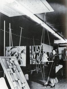 Art of This Century gallery, New York City, 1942—installation design by Frederick Kiesler
