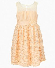 Flower girl dress but in white.  Would be so Cute!