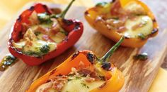 Italian Style Grilled Stuffed Peppers with Tre Stelle® Bocconcini - Tre Stelle Recipe Gallery Pulled Pork Recipes, Barbecue Recipes, Veg Recipes, Side Recipes, Grilling Recipes, Italian Recipes, Recipies, Dinner Recipes, Grilled Stuffed Peppers