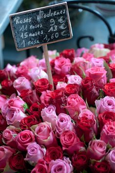 French Flower Market hopefully in 5 years my husband is buying me a rose as we walk by :)