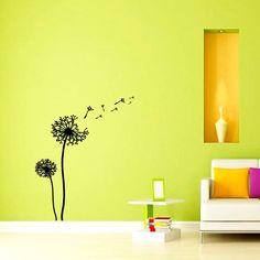Wall Decals Dandelion Flower Nursery Art Bedroom Vinyl Sticker Wall Decor Murals Wall Decal: Amazon.co.uk: Kitchen & Home