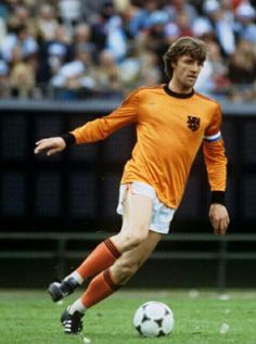 Ruud Krol of Holland in action at the 1978 World Cup Finals.