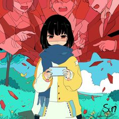 Mimi N are creating SUN Project - Fanart - Critique Anime Crying, Sad Anime, Anime Art, Dark Art Illustrations, Illustration Art, Sun Projects, Vent Art, Arte Obscura, Sad Pictures