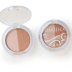 Pacifica Eye Shadow Duo #1: Bronze shade and pink sand shade