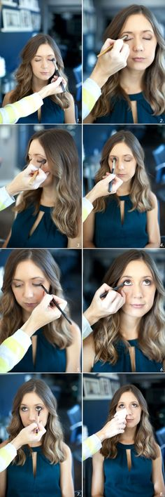 Everyday Smoky Eye in brown shades, tutorial by Martha Lynn Kale   photos by Kate Stafford for Camille Styles